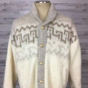 VTG Tundra M Wool Scandinavian Cardigan Sweater